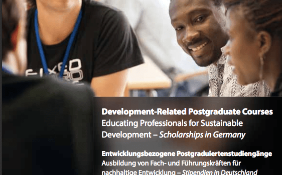 German Academic Exchange Service ( DAAD) Development Related Postgraduate Scholarships 2019/2020 in Germany for Developing Countries