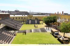 View of the stands in the main arena, where the Tattoo will take place