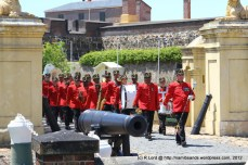 The SA Army Band Cape Town, led by Drum Major WO2 André van Schalkwyk