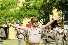The SA Army Band of Kroonstad with Drum Major Staff Sergeant Johan Labuschagne