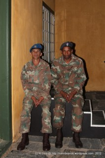 Troops guarding the storeroom