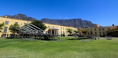 What a backdrop - Table Mountain beyond!