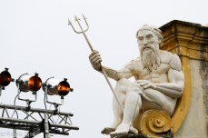 Neptune watches over the lights