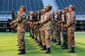 The Cape Town Highlanders honour guard