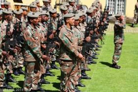 Cape Town Highlanders honour guard