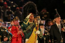Drum Major Hashiem Isaacs of the Cape Town Highlanders