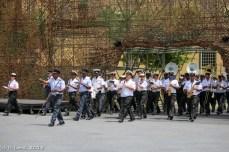 SA Air Force and SA Navy Band run through their routine