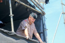 WO2 Charles Canning watches from the lighting box