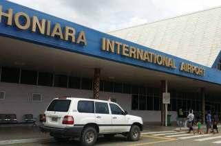 ホニアラ国際空港の外観。