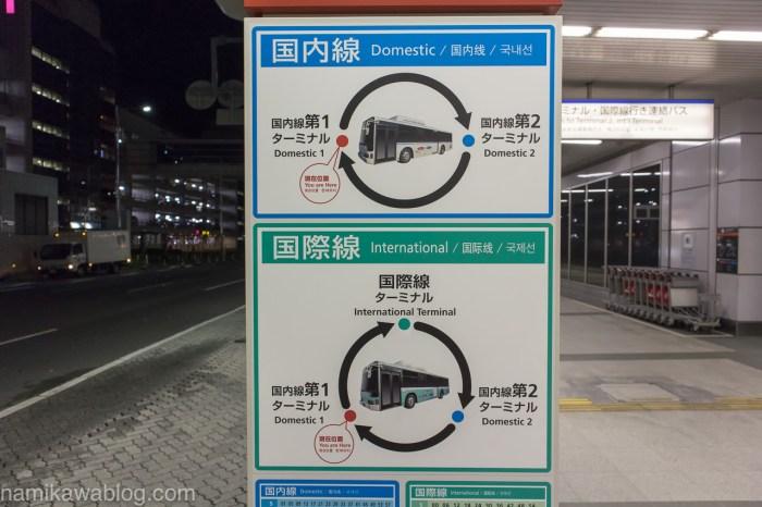 羽田空港無料連絡シャトルバス路線図