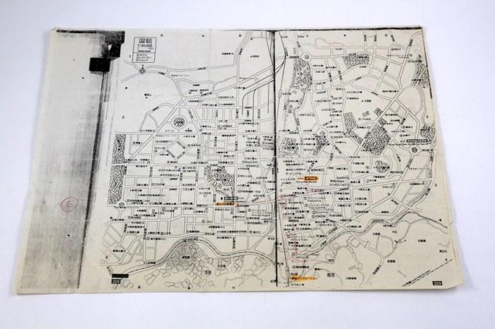 1997年深圳の地図コピー