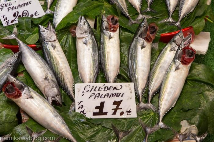 市場での魚のクローズアップフォト