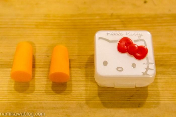 ダイソー耳栓 ハローキティ ケース付き 内容物
