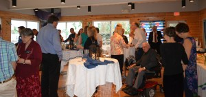 A group of NAMI members socialize at an event