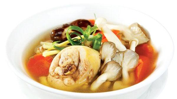 cách chế biến canh gà nấu nấm rơm