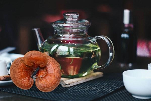 cách pha trà nấm linh chi phong cách việt