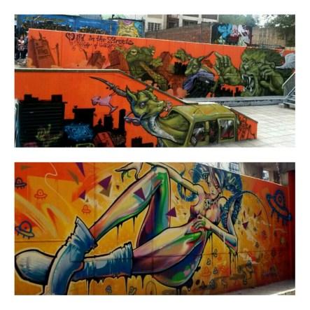 The beautiful graffiti in Braamfontein