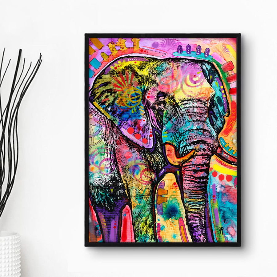 - Modern Abstract Animal Oil Painting On Canvas Wall Art Picture