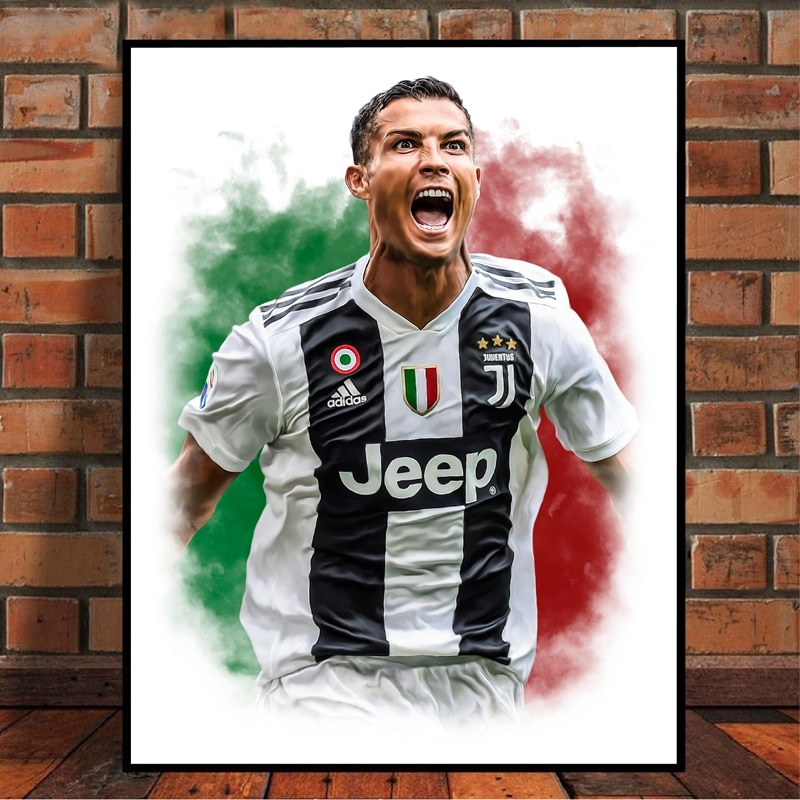 CRISTIANO RONALDO PICTURE PHOTO PRINT ON FRAMED CANVAS WALL ART