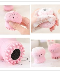 Facial Brush Exfoliator Cute Animal Octopus Silicone Face Cleaner Brush Deep Cleansing Wash Brush Face Spa Facial Care Tools Nana S Corner Beauty Cosmetic