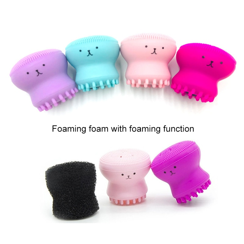 Silicone Face Cleansing Brush Facial Cleanser Pore Cleaner Exfoliator Face Scrub Washing Brush Skin Care Octopus Shape Tslm1 Nana S Corner Beauty Cosmetic