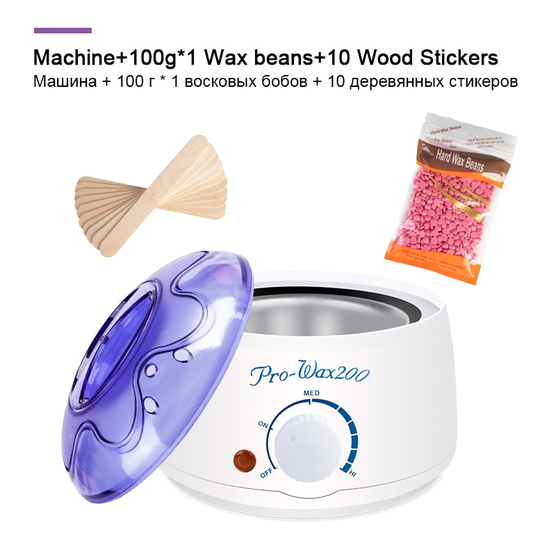Electric Hair Removal Wax Melt Machine Heater 100g Wax Beans 10pcs