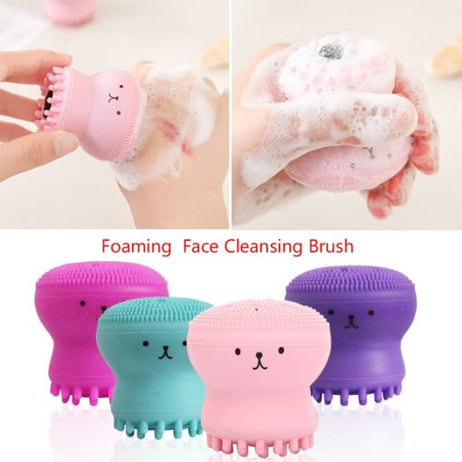 1pcs Silicone Octopus Facial Cleansing Brush Deep Cleaning