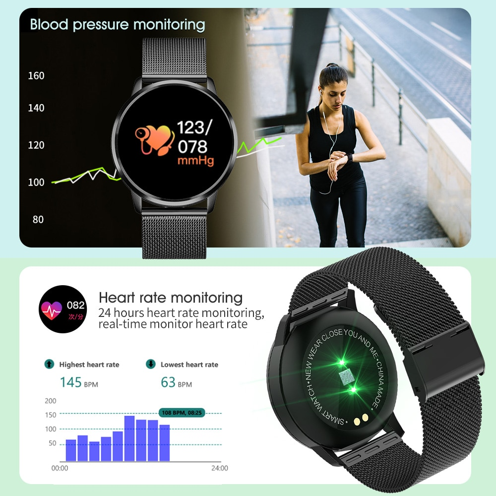 CYUC Q8 Smart Watch OLED Color Screen Men Fashion Fitness