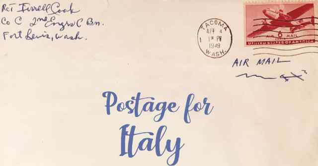Postage To Italy First Class