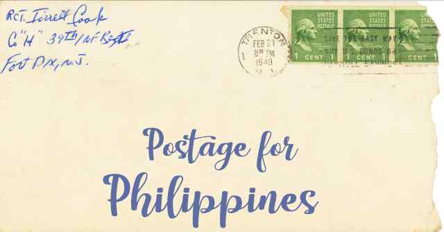 Postage To The Philippines First