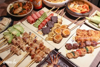 就醬子烤吧彰化民族店,只開宵夜場的彰化燒烤店,串燒多達40種