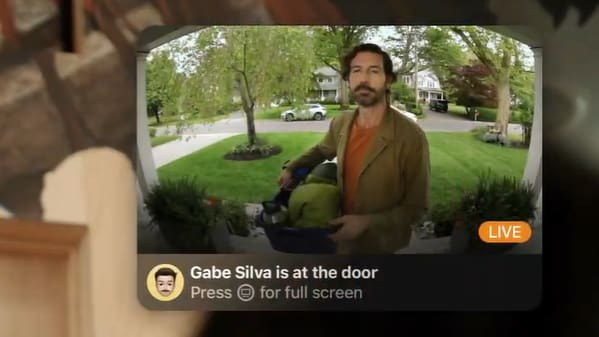 Apple Home cameras will be able to identify people you know and will alert you on your Apple TV if they're at the door.