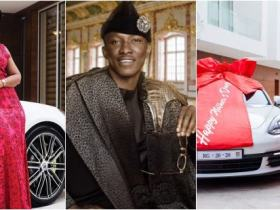Video: Cheddar gifts his wife Ruby Porsche and a house