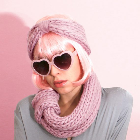 Blueberry Muffin Snood and Headband