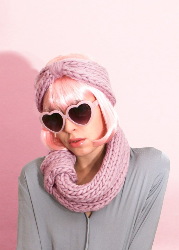 blueberry snood and headband