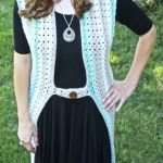 Retro Duster Vest Free Crochet Pattern