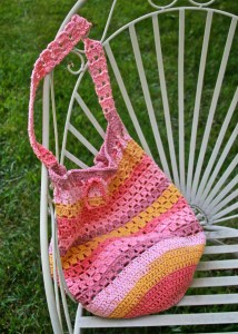 Boho Crochet Market Bag Free Pattern Caron Cotton Cakes