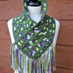Cascading Colors Crochet Cowl Free Pattern with Video Tutorials