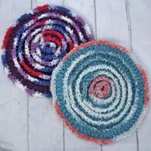 Within The Circles Scrubby Dishcloth Free Crochet Pattern