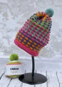 Bubble Gum Pop Hat Pattern Caron Cupcakes