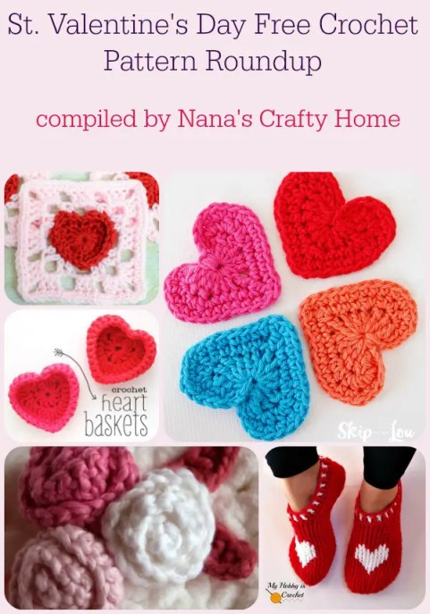 Valentines Day Free Crochet Patterns Roundup By Nanas Crafty Home