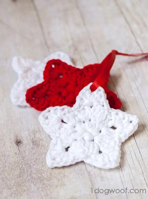 Crochet Star Pattern by One Dog Woof