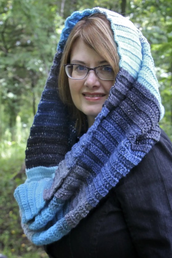 Simple Sparkle Scarf free crochet pattern