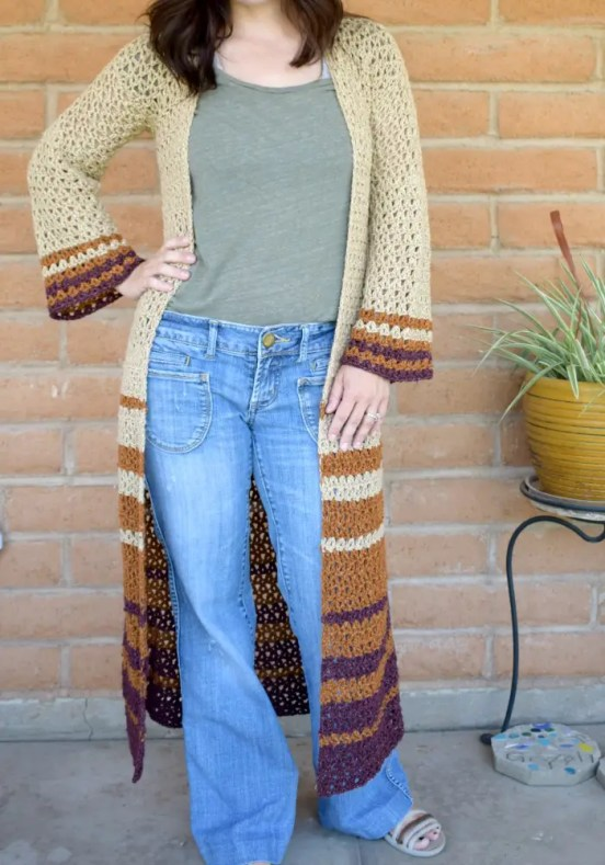 Boho Duster Cardigan by Hooked on Homemade Happiness