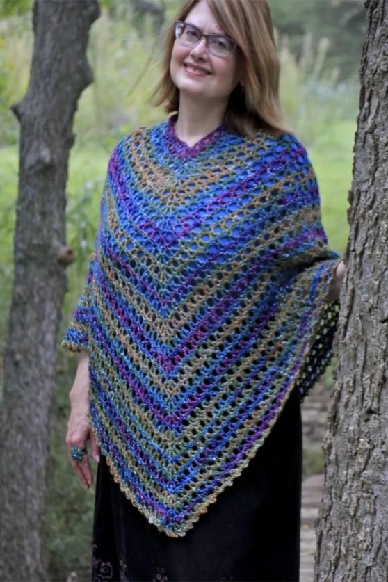 Midnight Madness Poncho Free Crochet Pattern Video Tutorial