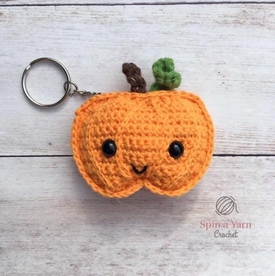 Pumpkin Keychain by Spin a Yarn Crochet