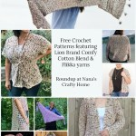Lion Brand Comfy Cotton Blend & Flikka Yarns Crochet Pattern Roundup