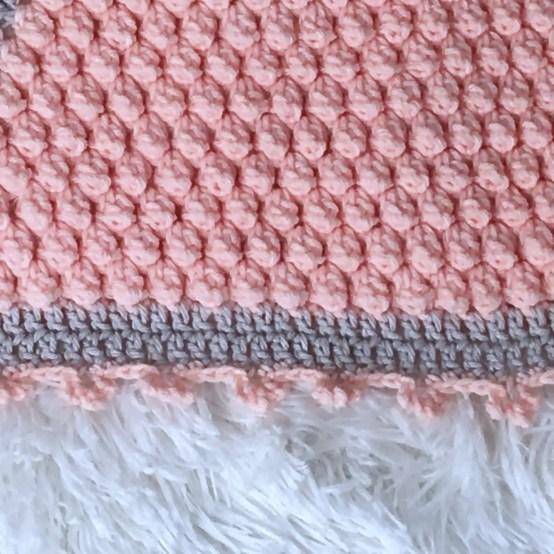 Cross My Heart Baby Blanket free crochet pattern