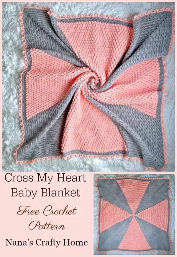 9d6f7f16c28a Heart Bubble Stitch Baby Blanket Free Crochet Patterns