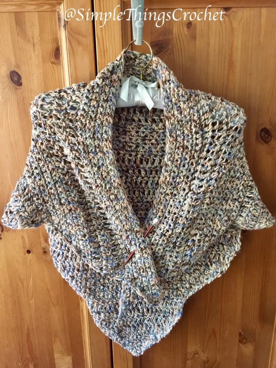 Scalloped Driftwood Shawl a free crochet pattern by Simple Things Crochet